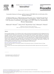 a hybrid biomass hydrothermal gasification solid oxide fuel cell