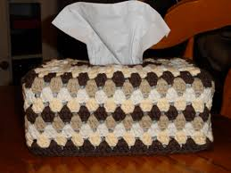 crochet granny tissue box cover u2013 yarnchick