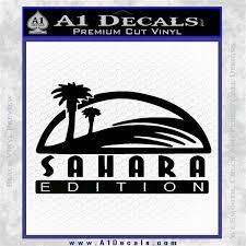 jeep wrangler sahara logo jeep wrangler sahara edition fender decal sticker a1 decals