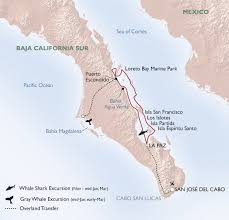 Map Of Cabo San Lucas Mexico by Small Ship Baja Adventure Cruise Uncruise Adventures