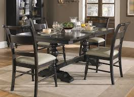 Counter Dining Room Set In Black    Set At Beyond Stores - Black wood dining room chairs