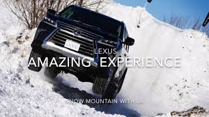 lexus lx 570 jp ch11 lexus amazing snow experience snow mountain with lx