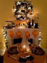 black and gold table decorations decorating of party christmas
