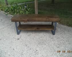 Wood Bench With Metal Legs Wooden Bench With Steel Legs 48 Wod Bench