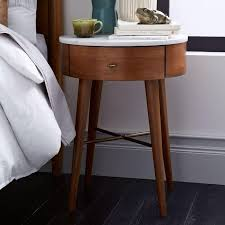 Curved Nightstand End Table Best 25 Slim Bedside Table Ideas On Pinterest Slim Side Table