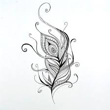 peacock feather tattoo design