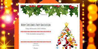 Freshers Party Invitation Cards Free Christmas Party Invitation Card U0026 Online Invitations