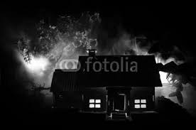 9 244 haunted house horror wall murals canvas prints