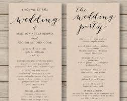 design your own wedding program etsy wedding program template beautiful template design ideas