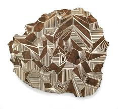 jason middlebrook s striking geometric paintings on wood planks