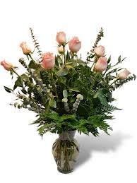 Long Stem Flowers 12 Premium Long Stem Pink Roses Flowermart Florist Flowers