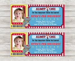 custom circus invitations circus ticket birthday invitations digital file