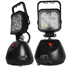 battery powered work lights 15w ip67 battery powered rechargeable led work light with magnet cm