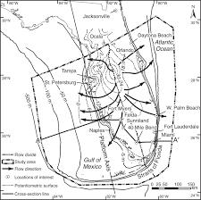 Florida Aquifer Map by Three Dimensional Flow In The Florida Platform Theoretical