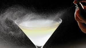 martini glass painting spray on flavor cocktail aromatics change up your favorite drink