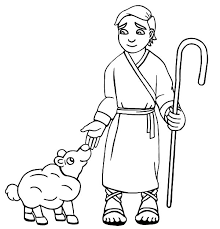 david the shepherd boy take care his sheep with love colouring