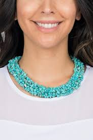 real turquoise stone necklace images Turquoise stone necklace by camilla rent clothes with le tote jpg