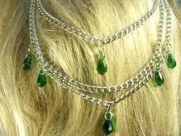 fairy crystal necklace images Hair chains headress head piece crystals fairy tale fantasy womens JPG