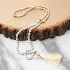 white turquoise necklace images Howlite aka white turquoise mala 108 mala bead prayer bead jpg