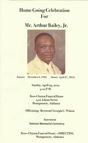Funeral Program Covers Home Going Program Cover The Bailey Barras Edwards Porter Foundation