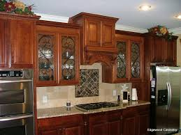Metal Cabinet Door Inserts Glamorous White Wooden Kitchen Cabinets With Double Door Stained