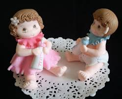 twins baby shower cake topper twins girls baby shower baby cake