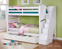 dock48 ashton twin over bunk bed with staircase and summerlin