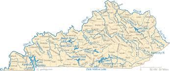 cumberland lake map map of kentucky lakes streams and rivers