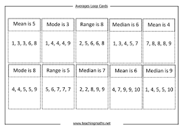 averages mode median mean and range by teachingmaths