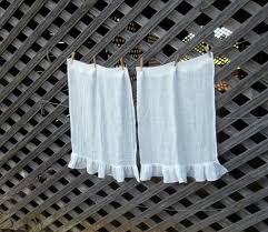 linen café curtains white gauze linen curtains custom sizes