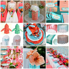 classic weddings and events coral and turquoise wedding ideas