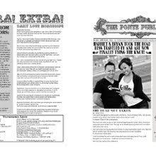 Newspaper Wedding Program Ink U0027d By Kate Invitations Saint Paris Oh Weddingwire
