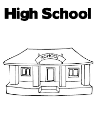 high high school house awesome school house high school coloring page coloring sky