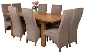 seattle dining set with 8 grey chairs oak furniture king