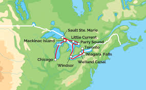 Great Lakes Crossing Map Great Lakes Grand Adventure Victory Cruise Lines