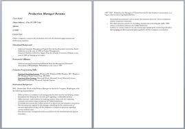 Clinical Manager Resume Production Manager Resume U2013 Sample Resumes