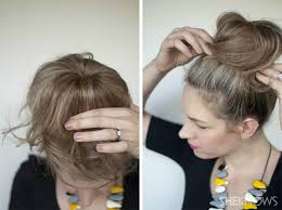 hairstyles with a hair donut how to top knot hairstyle tutorial