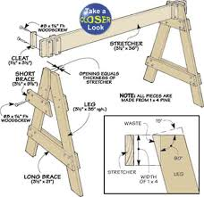 Wooden Toy Plans Free Pdf by Saw Horse Plans 7 Easy Diy Projects
