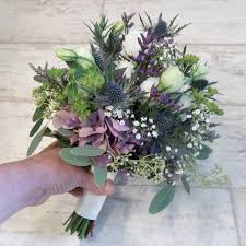 Wildflower Arrangements Wedding Flower Arrangements With Thistles Scottish Thistle