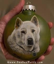 pet portrait ornaments custom
