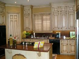 Distressed Cabinet Doors Used In The Tuscan Kitchen With Black - Different kinds of kitchen cabinets