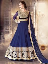 anarkali wedding dress buy royal blue color georgette wedding wear anarkali salwar