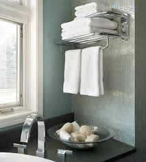 bathroom towel racks ideas hotel style chrome towel rack shelf 10465