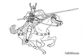 knight horse coloring pages hellokids
