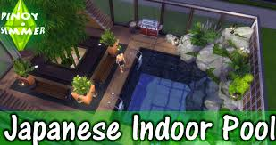 the sims 4 speed build japanese indoor pool youtube