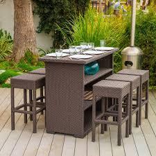 Rattan Wicker Patio Furniture Bar Stools Wicker Patio Bar Furniture Set Outside Stools Indoor
