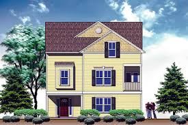 front and rear duplex house plan 31504gf architectural designs