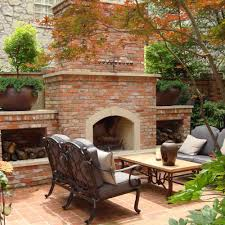 outdoor living areas cabana fireplace kitchen southern land design