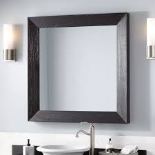 rectangle wood vanity mirror signature hardware