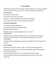 Technician Resume Examples by Lab Technician Resume Template 7 Free Word Pdf Document